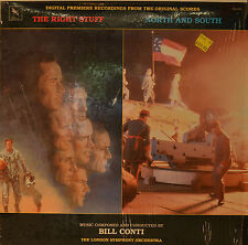 "OST - SOUNDTRACK- THE RIGHT STUFF - NOTRH AND SOUTH - BILL CONTI  12""  LP (N105)"