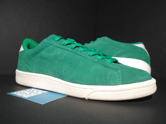 Wild casual shoes NIKE ZOOM BRUIN TENNIS CLASSIC CS SUEDE PINE GREEN IVORY WHITE 829351-300 9.5