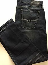 Guess Mens Rebel Straight Jeans Blue Size 38/32