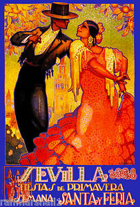 1928-Feria-de-Sevilla-Fair-of-Seville-Spain-Vintage-Travel-Advertisement-Poster
