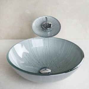 ... -Modern-Hand-Paint-Round-Basin-Bowl-Tempered-Glass-Vessel-Sink-Faucet