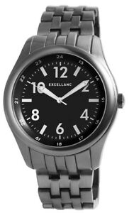 Excellanc-XXL-Herrenuhr-Schwarz-Weiss-Titan-Look-Analog-Metall-D-280971000001