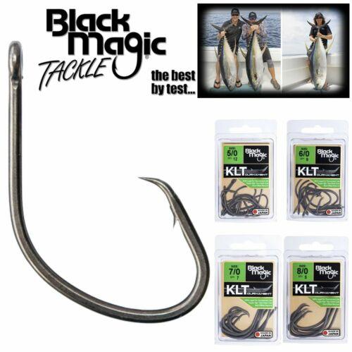 BLACK MAGIC TACKLE TOURNAMENT LEGAL CARBON STEEL NON OFFSET CIRCLE HOOK KLT