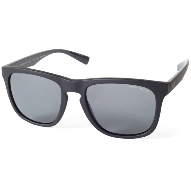 7fae2f1d3446 Armani Exchange AX4058S 819981 Matte Black Grey Polarised Men s Sunglasses