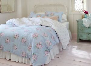 Swell Details About Simply Shabby Chic Blue Bella Floral 3 Pc Full Queen Comforter Set Blue White Download Free Architecture Designs Grimeyleaguecom