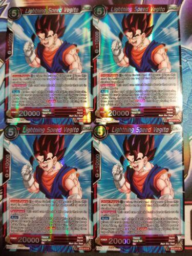 Lightning Speed Vegito 4x BT2-013 R Dragon Ball Super PLAYSET