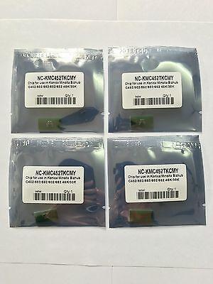 3 x Toner Reset Chips for Konica Minolta Bizhub C452 C552 C652(TN413 TN613)