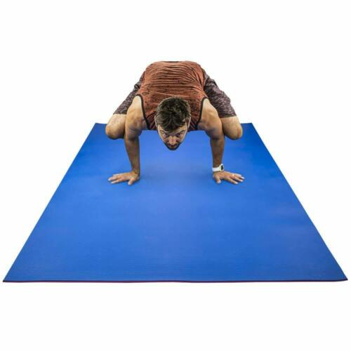 """84/"""" x 48/"""" x 1//4/"""" 6 mm Thick RevTime Large Exercise Mat 7/' x 4/'"""