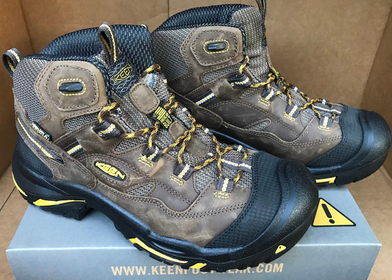 KEEN utilidad Braddock Mid WP seco ASTM 1011242D Puntera De Acero Trabajo botas para hombre 8.5 D