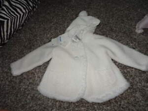 Nwt New Boutique Mayoral Newborn 6-9 75 Faux Fur Lined Coat Sweater Baby & Toddler Clothing Girls' Clothing (newborn-5t)