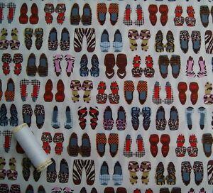 Zapato multicolores impresión 100% Tela De Algodón 114cm Ancho FQ/medio metro/metro