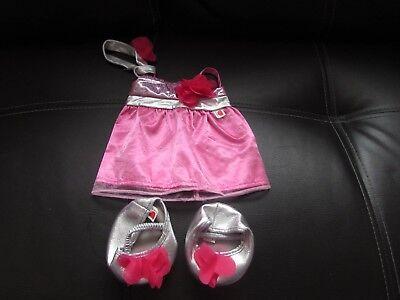Ben Informato 3 Pezzi Rosa Teddy Bear's Vestito Con Abbinato Cerchietto/scarpe Da Progettare Un Orso-mostra Il Titolo Originale Distintivo Per Le Sue Proprietà Tradizionali