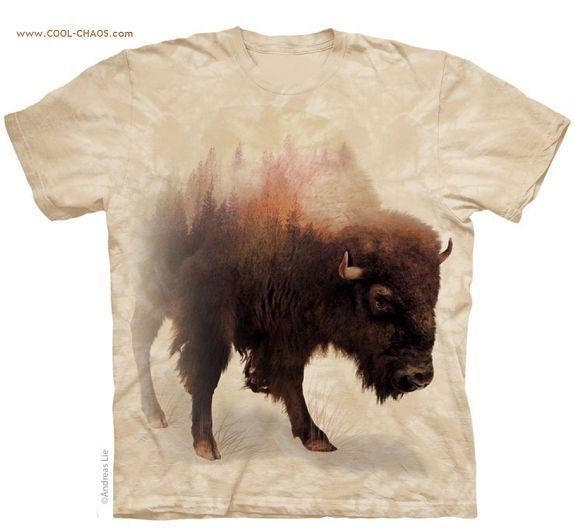 Tatanka Bison T-Shirt Cream Tie-Dye Tee,Buffalo,Tatonka,Andreas Lie Art t-shirt