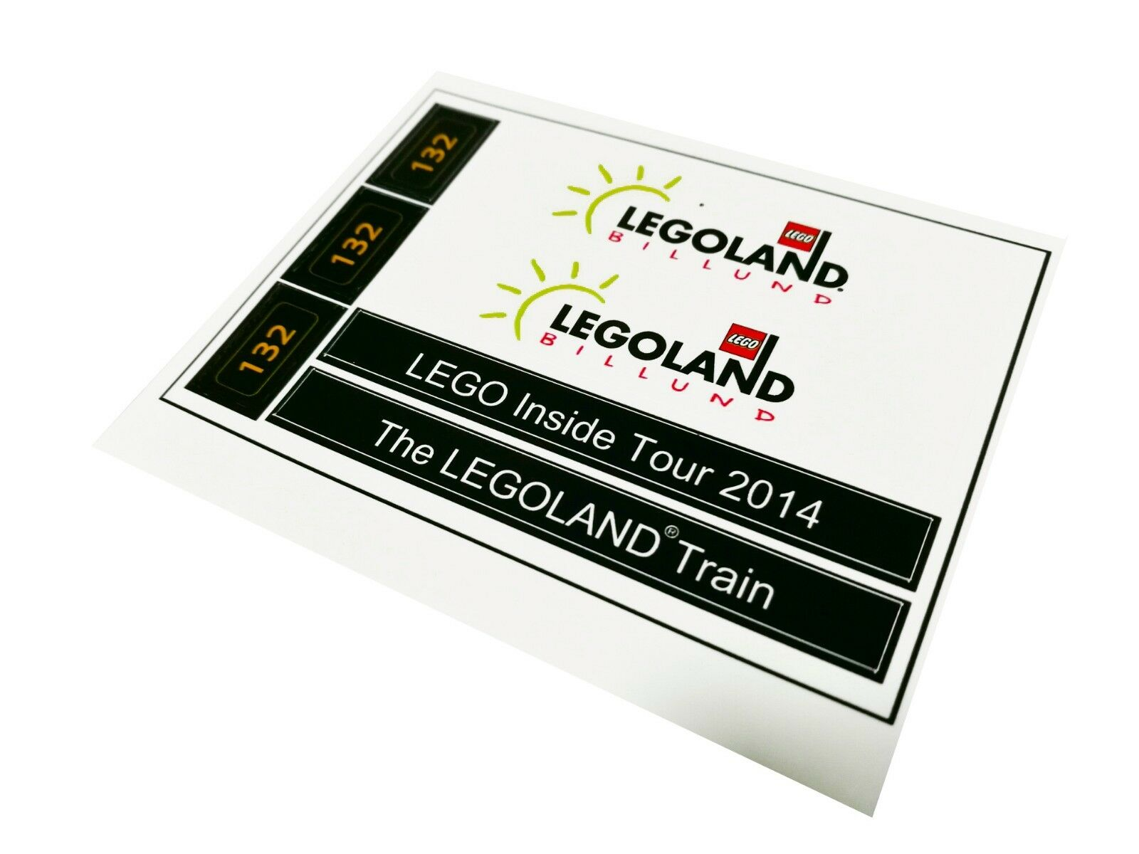 The Legoland Train Precut Custom Replacement Stickers for Lego Set 4000014 20