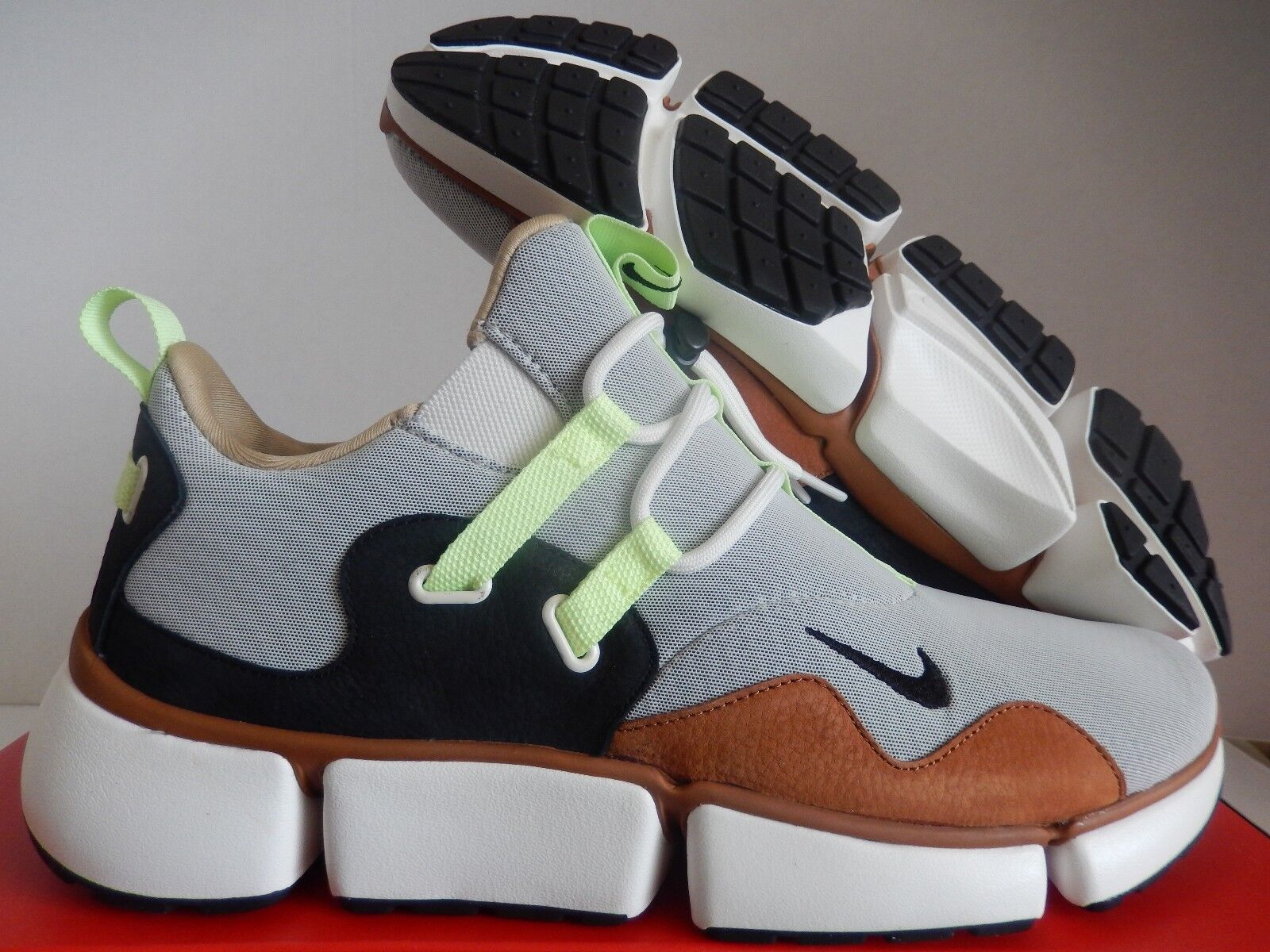 Nike nikelab coltellino dm tawny brown-nero-barely volt sz 11 [910571-201]