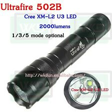 UltraFire 502B CREE XM-L2 U3 2000 Lumens Led Rechargeable Flashlight 502B  Torch