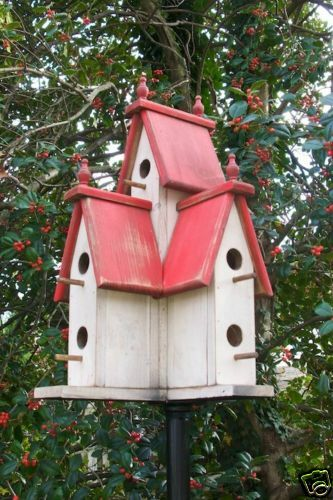 Large Wooden PRIMITIVE VICTORIAN BIRDHOUSE-rot-2018-388R