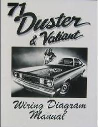 1971 71 PLYMOUTH DUSTER/VALIANT WIRING DIAGRAM | eBay