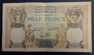 1000 Francs Ceres Et Mercure Type 1927 Modifié - 03/11/1938 - N°3 Ot4znvh0-08000502-103153268