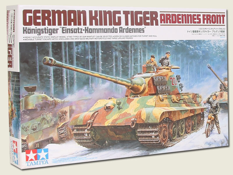 Tamiya 1 35 scale WW2 German King Tiger tank Ardennes front