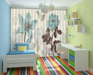 Blue-Embroidered-Butterfly-3D-Curtain-Blockout-Photo-Print-Curtains-Drape-Fabric