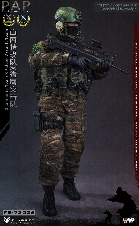 FLAGSET 1 6 FS73026 PAP Shannante Team X Falcan Assault Clothes F 12  Figure Toy