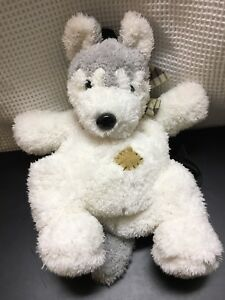 dc04c9a59ac2 Plush Husky Dog Wolf Puppy White & Gray Child's Backpack Patches ...