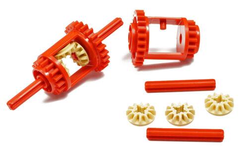 2 x différentiel rouge avec axes U LEGO Technique Engrenages//6573 article neuf 6589