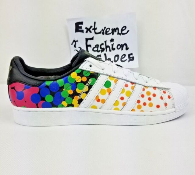 brand new bfb92 73054 Adidas Superstar Original Pride Pack Mens Shoes Multicolor Rainbow White  CM7802