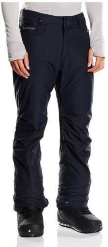 Quiksilver State Ragazzi Neve Pantaloni Nero Taglia Large 14 ANNI NUOVO Snowpants