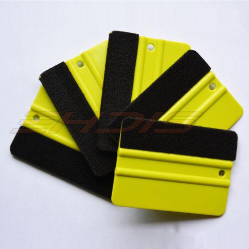 "Vinyl Decal Wrap Window Tint Sticker Wrap Tool 1-20 Pcs 4/"" Squeegee Felt Edge"
