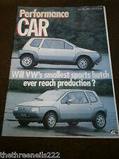 PERFORMANCE CAR - VW SMALLEST SPORTS HATCH - FEB 1985