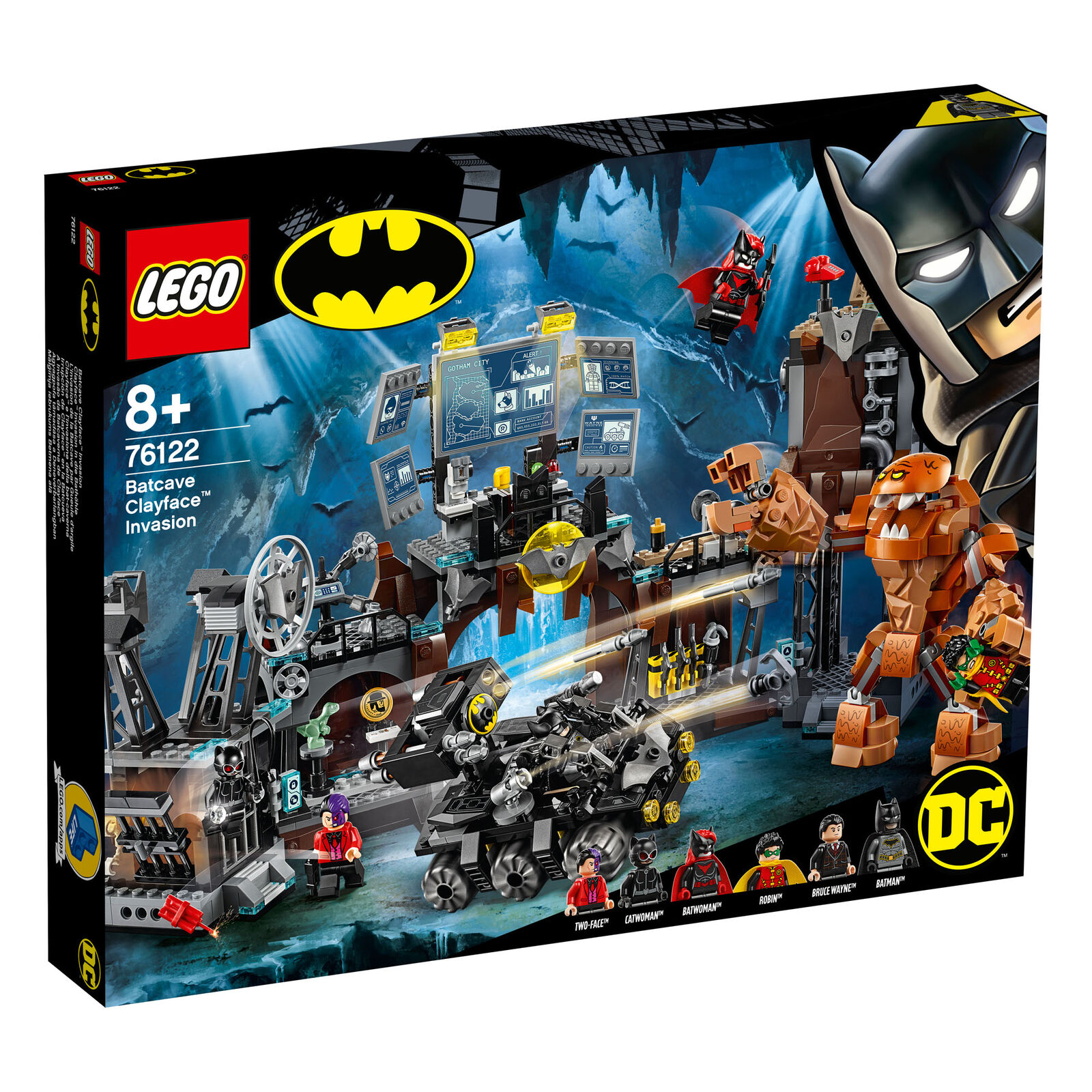 76122 LEGO SUPER HEROES Batuomo Bat-Caverna Clayface invasione da Collezione  DC 1038pcs  qualità garantita