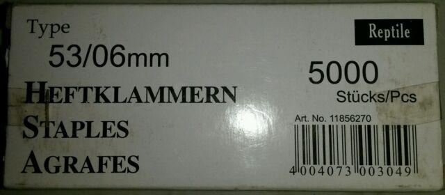 Rapid agrafes plates type industriel 53/06 mm-lot de 5000