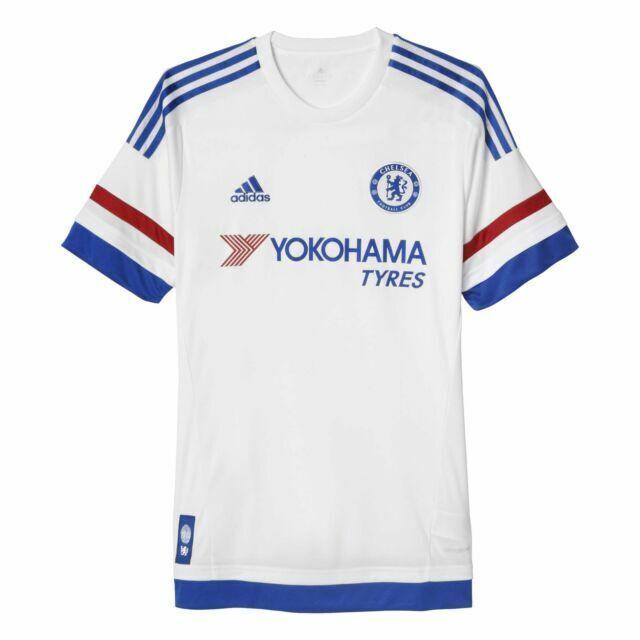 AH5108 adidas CFC Chelsea Away White Soccer Jersey Men's Size L ...