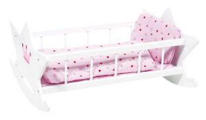 Puppenetagenbett Weiß : Puppenwiege weiß puppenbett holzwiege holzbett mit bettzeug puppen