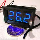 TERMOMETRO -50 ~ 110°C PANNELLO 12V DC LED BLU NTC 10K sonda auto moto camper