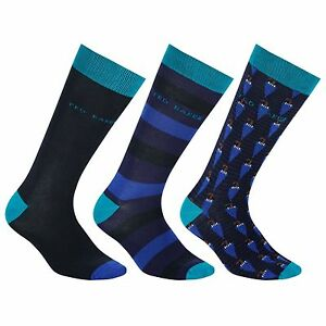 af3af9c4d TED BAKER UMBRELLA STRIPE PLAIN BLACK MULTI PACK MIXED SOCK SOCKS ...
