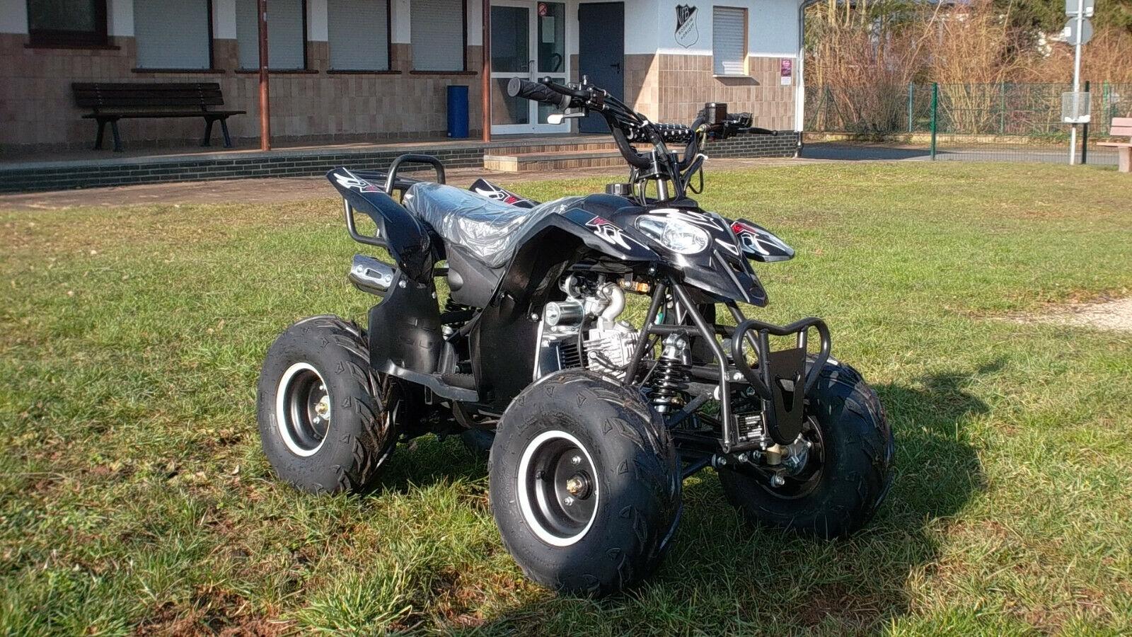 125 ccm Jugend Quad 7 Zoll, ATV pocketFahrrad dirt Fahrrad 4 Takt mit E-Starter, Neu