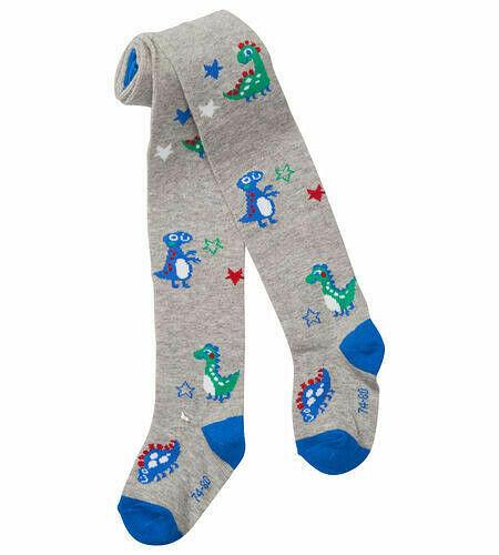 Baby Strumpfhose Dino/'s blau mit Sterne 3 Größen  Grau Melange Junge
