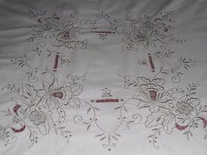 Pretty Vintage cream cotton 49034 x 47034 TABLECLOTH embroideryamp cut workampmadeira - Carlisle, United Kingdom - Pretty Vintage cream cotton 49034 x 47034 TABLECLOTH embroideryamp cut workampmadeira - Carlisle, United Kingdom