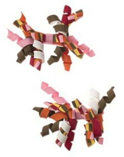Girls GYMBOREE Purrfect Autumn curly loop barrettes NWT Cute as a Button bows