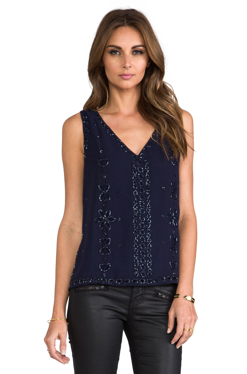 Greylin NWT Gatsby Beaded Top Sizes XS, S, M