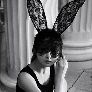 Fascinator White Decor Girl Black Women Lace Mask Bunny Ears Veil ... bccb4ea86e0