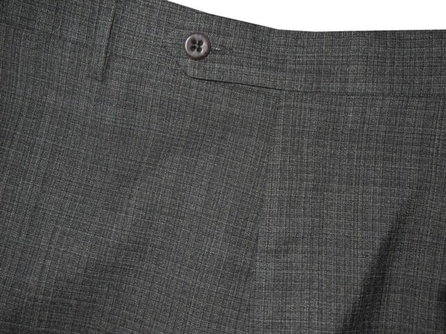 $395 NEW ZANELLA DEVON GRAY & BLACK SUPER 120'S WOOL MENS DRESS PANTS 36