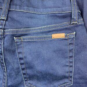 Joe-039-s-Jeans-Womens-Skinny-Ankle-Mid-Rise-Dark-Raw-Hem-Stretch-Jean-Size-25-26x25