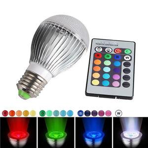 30w e27 led 16 color change rgb magic light bulb l ir