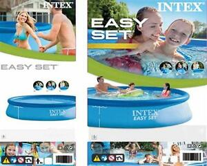 intex easy set pool 396 x 84 cm quick up pool becken schwimmbecken ebay. Black Bedroom Furniture Sets. Home Design Ideas