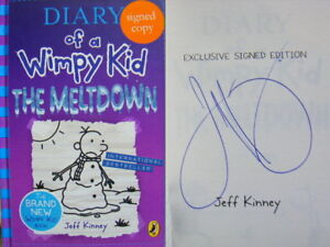 Signed-Book-Diary-of-a-Wimpy-Kid-Meltdown-by-Jeff-Kinney-Hdbk-1st-Edn-2018