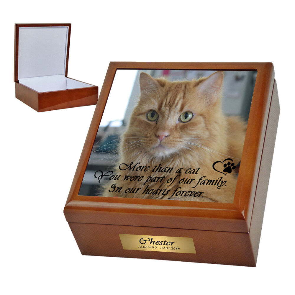 Pet Memorial Ashes Keepsake Box. Suit Suit Suit Small Cat Dog Upto 11kgs. Personalised 52878b